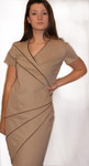 Illusions: Ultra Slimming Lambskin-Ponte Geometric Dress