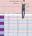 Body Measurements French for Cuff Silk Blouse