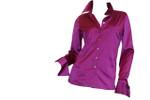Front - Fuchsia Silk Blouse