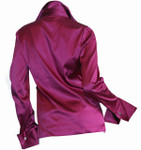 Back- Fuchsia Silk Blouse