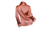 Salmon Silk Blouse  Back