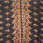 Extra-Large Black & Rust Paisley Print Silk Chiffon Wrap