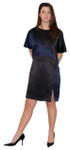 Silk Shift Color Block Dress