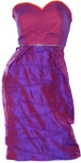 Ladies Silk Formal Cocktail Dress - Petite Pois - Knee Length