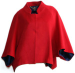 Cashmere & Merino Wool Loose Fit Coat Jacket - Red Cherry