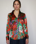 women's paisley french cuff blouse - Model
