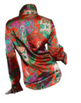 women's paisley french cuff blouse_Back