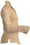Women's Goatskin Suede Shirt - Beige - Side