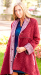 Alpaca Swing Coat with Shawl Collar and Cuffs