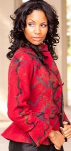 Melody Thomas Equestrian Style Boiled 100% Wool Peplum Jackets w'