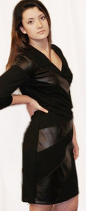 Illusions Shaping - Lambskin Panels & Pone di Roma Dress, with 3/4 Sleeves