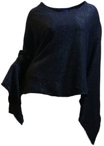 Blue Lurex & Cashmere Poncho Alt. Style