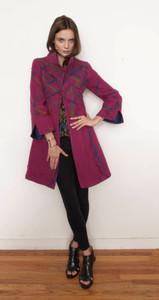 Trellis Cashmere Coat FRONT Studio NYC