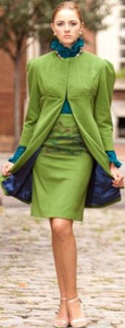 Women's 100% Cashmere Long Coat-Jacket and Skirt in Solid Colors
