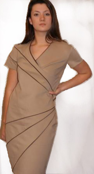 Illusions Shaping - Lambskin Piping & Ponte di Roma Dress