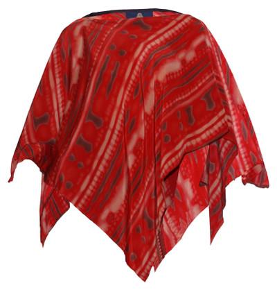 Shibori Silk Poncho Top in