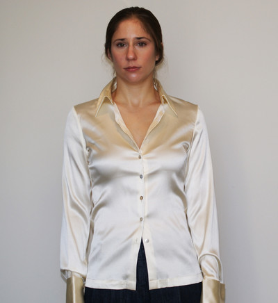 Off white  French Cuff Button Model