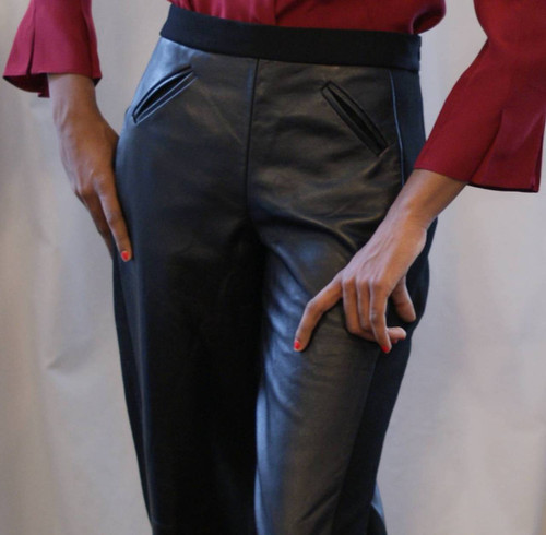 Illusions: Ultra Slimming Lambskin Pants