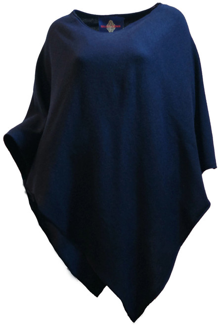 Poncho Navy Front