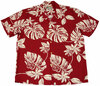 Tiare Red -  Men's 100% Rayon Hawaiian Shirt
