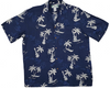 Island Outriggers and Ukes - Navy - 100% Rayon