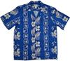 Molokai - Blue - 100% Rayon Men's Hawaiian Shirt
