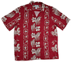 Molokai - Red - 100% Rayon Men's Hawaiian Shirt