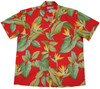 Bird of Paradise Red  - 100% Cotton