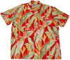 Heliconia Red - 100% Rayon