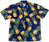 Tropical Gold Blue - 100% Cotton