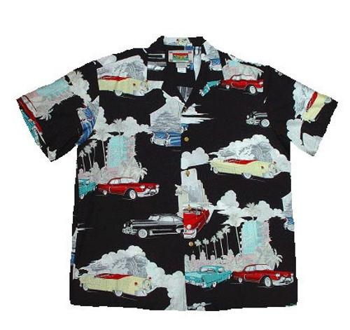 Retro Cadillacs - Men's 100% Rayon Hawaiian Shirt
