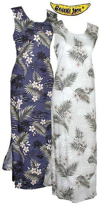 Island Breeze Hawaiian Long Tank Dress