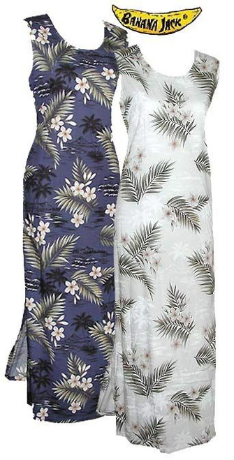 Island Breeze Hawaiian Long Tank Dress