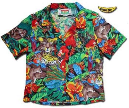 Jaguar Jungle Women's Hawaiian Camp Shirt