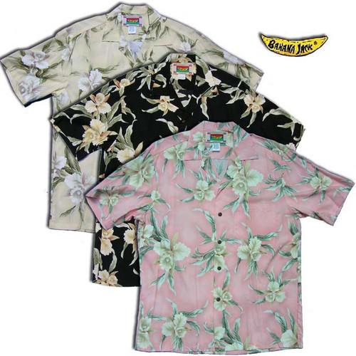 Easter Island Orchid - Men's 100% Rayon Aloha Shirt