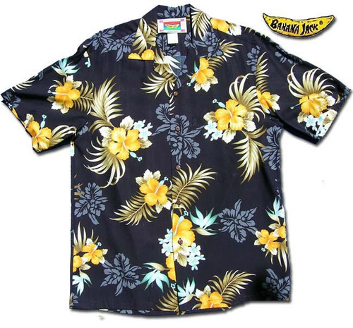 Big Kanaka Black - Men's 100% Rayon Hawaiian Shirt