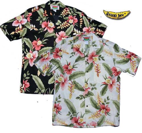 Hana Heliconia - Men's 100% Rayon Hawaiian Shirts