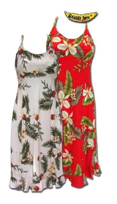 Hawaiian Breeze Ruffled Spaghetti Strap Dress