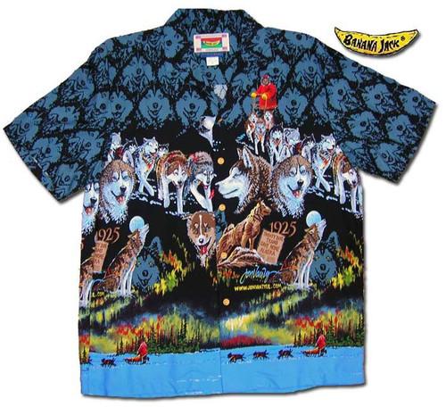 "Mush Alaska - Men's Rayon ""Aloska"" Shirt By Jon Van Zyle"