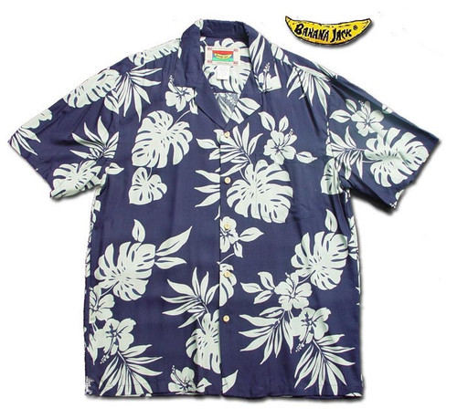 Blue Hawaii - Men's 100% Rayon Hawaiian Shirt - On sale!