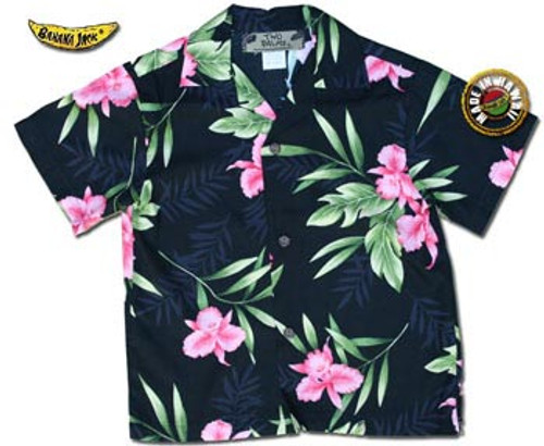 Boys Manoa Valley Hawaiian Shirt