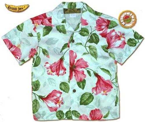 Boys Royal Hawaiian Hibiscus Aloha Shirt