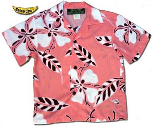 Boys Tropical Hibiscus Hawaiian Shirt