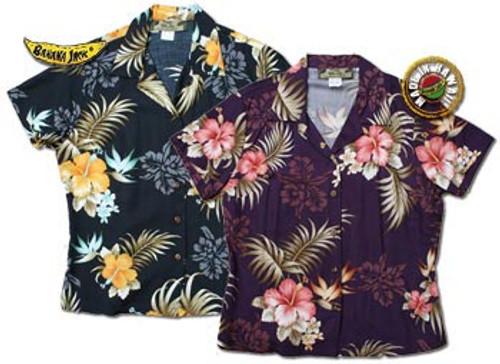 Big Kanaka Womens Fitted Hawaiian Shirts