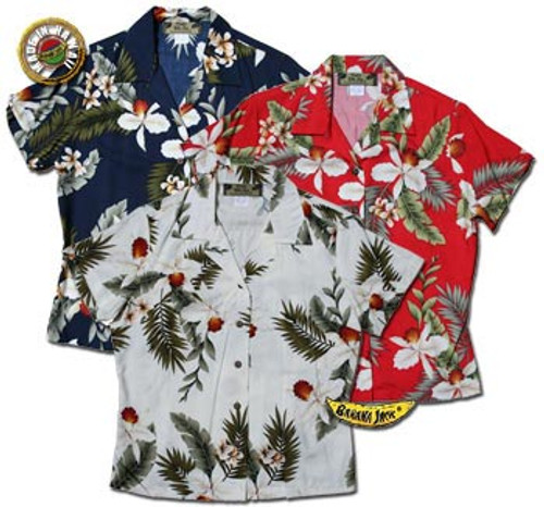 Hawaiian Breeze Womens Fitted Hawaiian Shirts