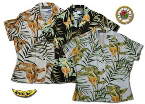 Island Lilly Womens Fitted Hawaiian Shirts