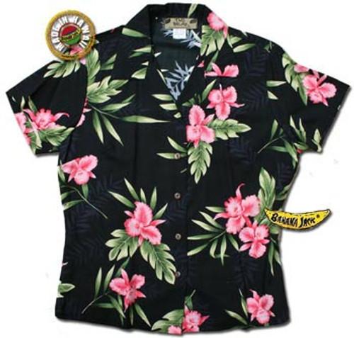Manoa Valley Womens Fitted Hawaiian Shirt