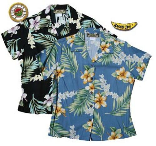 O'Lei Womens Fitted Hawaiian Shirts