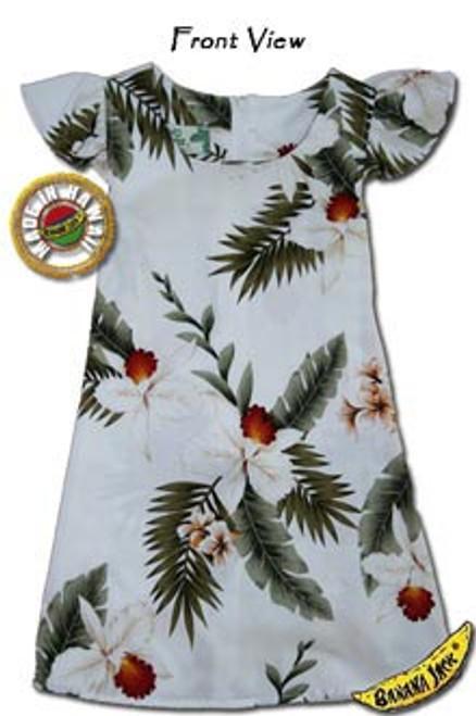 Girls Hawaiian Breeze Tie Back Aloha Dress