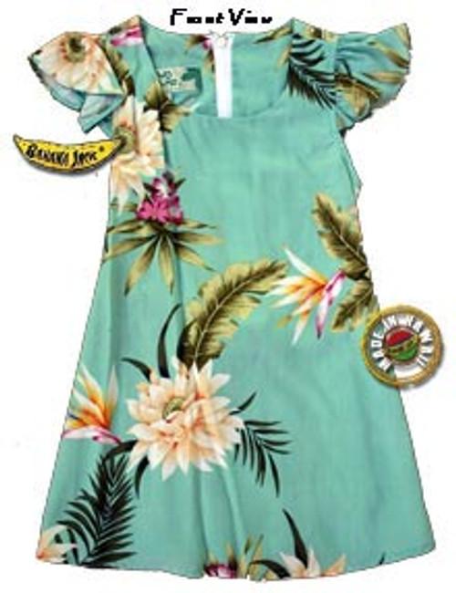 Girls Princeville II Hawaiian Tie Back Dress